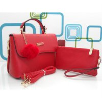 DJ Fashion The Elegant Woman Bag / One Set - Merah