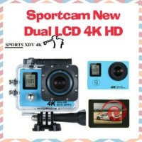 Terlaris Sport action camera 4k DUAL LCD wifi like xiaomi gopro kogan brica