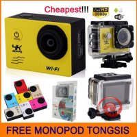 Terlaris FREE TONGSIS Action Camera 4k 16MP WIFI FULL HD Seperti Kogan Xiaomi Gopro