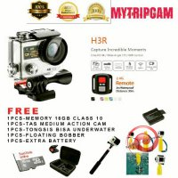 Terlaris PAKET TERMURAH Action Camera 4K UltraHD wifi dual screen seperti kogan bcare Bpro gopro