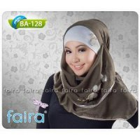 Faira - Jilbab Segi Empat BA 128 / Warna On Model / Katun Paris