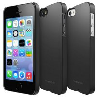 (Kirim Sore Ini) Rearth Ringke Slim Case iPhone SE / 5 / 5s - BLACK (ORIGINAL)