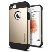 [Siap Kirim] Spigen iPhone SE/5S/5 Case Tough Armor Champagne Gold 041CS20252