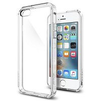 [Limited Offer] Spigen iPhone SE/5S/5 Case Ultra Hybrid Crystal Clear 041CS20171