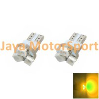 Lampu LED Mobil / Motor / Speedometer / Dashboard T5 PCB 3 SMD 1210 Yellow - Model Jamur
