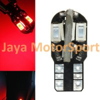 Lampu LED Mobil / Motor / Senja T10 / Wedge Side Canbus 8 SMD 5730 - Red