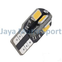 Lampu LED Mobil / Motor / Senja T10 / Wedge Side Canbus 8 SMD 5730 - Warm White