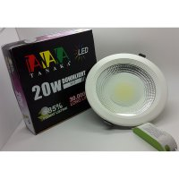 Lampu Ceiling Downlight LED COB 20 watt frosted glass ( cahaya PUTIH )
