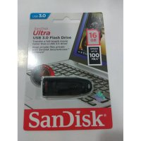Flashdisk sandisk ultra 16 gb usb 3.0 up to 100mbps
