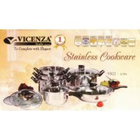 Vicenza Panci Set V-612 (Vicenza Stainless Cookware)