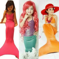 Size S (10-15Kg /2-4Th) - Eco Polos - Baju Renang Putri Duyung / Kostum Mermaid - Backless/Bikini