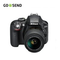 Nikon D3300 Lensa Kit 18-55mm VR - 24 MP - Hitam