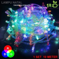 Lampu Natal LED Warna RGB Twinkle Light hias pohon tumblr dekor