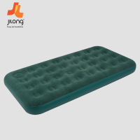 Kasur Angin Jilong Flocked Air Bed With Built-in Foot Pump Twin - Hijau