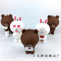 66 - Gantungan boneka LINE key chain bag pendant Boneka Brown Cony