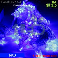 Lampu Natal LED Biru Twinkle Light hias pohon Christmas