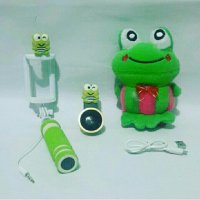 Paket Hemat Karakter Keropi 3in ( Powerbank boneka Superwide Tongsis )