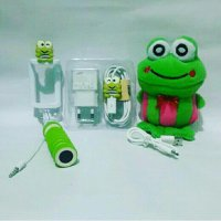 Keropi powerbank 5000 mAh Paket Special Keropi 3in (powerbank Boneka Charger Tongsis )