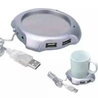 Coffee Cup Warmer with 4 USB Ports Hub