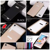 Oppo R7 / R7 Lite Metal Slide Hard Case Casing Cover