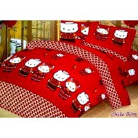 Jaxine Sprei Katun motif Hello Kitty Uk. 120X200x20cm