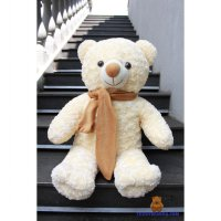 BONEKA TEDDY BEAR CREAM XL 75CM PREMIUM SYAL