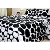 Jaxine Sprei Katun motif Polkadot Uk. 100X200X20 Cm - Small Single