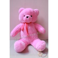 BONEKA TEDDY BEAR JUMBO 1 METER PINK SYAL MODEL IMPORT
