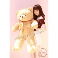 BONEKA TEDDY BEAR JUMBO 1 METER CARAMEL SYAL MODEL IMPORT