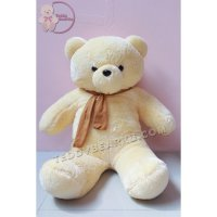 BONEKA TEDDY BEAR JUMBO 1 METER CREAM SYAL MODEL IMPORT