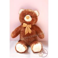 BONEKA TEDDY BEAR JUMBO 1 METER BROWN-WHITE