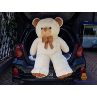 BONEKA TEDDY BEAR SUPER SUPER JUMBO 1,5 METER CREAM