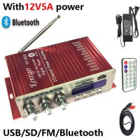[globalbuy] With 12V5A Power Adapter 40W Mini Bluetooth Amplifier + AV Cable+ Remote Contr/3610044