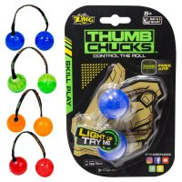 Finger yoyo Thumb Chucks Finger Ball Lamp new fidget spinner nyala LED