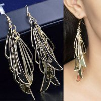 [ANTING] 02D48Dr-8Er Hollow Wings In The Long Earrings
