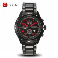 CURREN 8021 Men Quartz Watch With Calendar And Chronometer (red dial) 1701