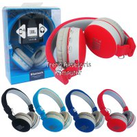 Universal Headset Bluetooth MS-881C model JBL with FM Radio + Support Handsfree