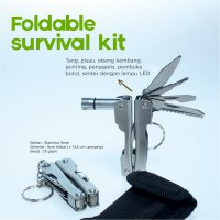 Tang Senter serbaguna - Foldable Survival Kit