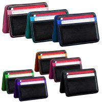 [FREE ONGKIR] Mini Neutral Magic Bifold Leather Wallet Card Holder Wallet Purse Money Clip