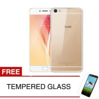 Case for Vivo V5s - Clear + Gratis Tempered Glass - Ultra Thin Soft Case