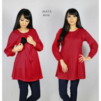 Just Mom Baju Menyusui Maya Red MA106