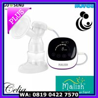 MURAH Malish Celia Rechargeable Single Electric Breast Pump Pompa ASI
