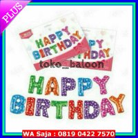 #Perlengkapan Pesta Balon Foil Huruf Set Happy Birthday / Set Huruf HBD