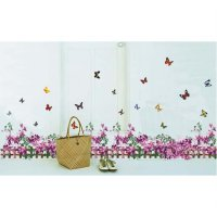 Wall Sticker | Wallsticker Pagar Bunga Ungu