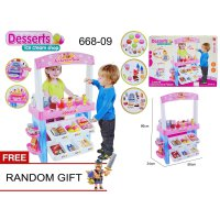 MSM Mainan Anak Perempuan Dessert Ice Cream Shop Music & Lights 668-09 - Pink
