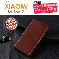 Xiaomi Mi Mix 2 / Mimix 2 RAM 6GB - Elegant Retro Leather Flip Case Cover