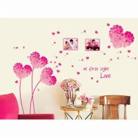 Wall Sticker | Wallsticker Bunga Love Pink