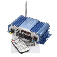 [globalbuy] Mini HiFi Car Home Power Amplifier FM Radio USB SD Audio MP3 Player with Remot/3379805