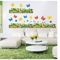Wall Sticker | Wallsticker Pagar Bunga Hijau