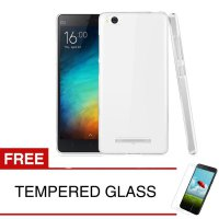 Case for Xiaomi Mi 4i - Clear + Gratis Tempered Glass - Ultra Thin Soft Case